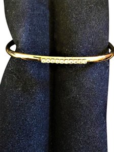 Unknown Goldttone and Crystal Bangle