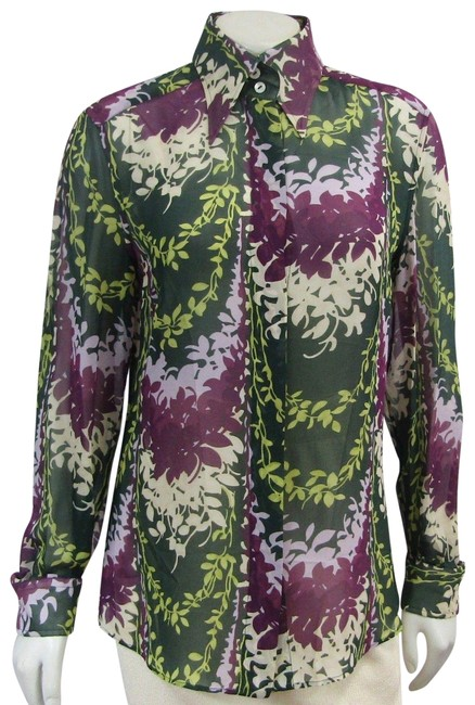 Preload https://img-static.tradesy.com/item/24349378/dolce-and-gabbana-multicolor-dolce-and-gabbana-vintage-button-down-leaf-print-purple-green-s-blouse-0-1-650-650.jpg