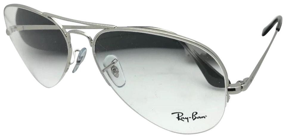 f092d3d2eb9 Ray-Ban New Rb 6589 2501 56-15 140 Aviator Semi Rimless Silver ...