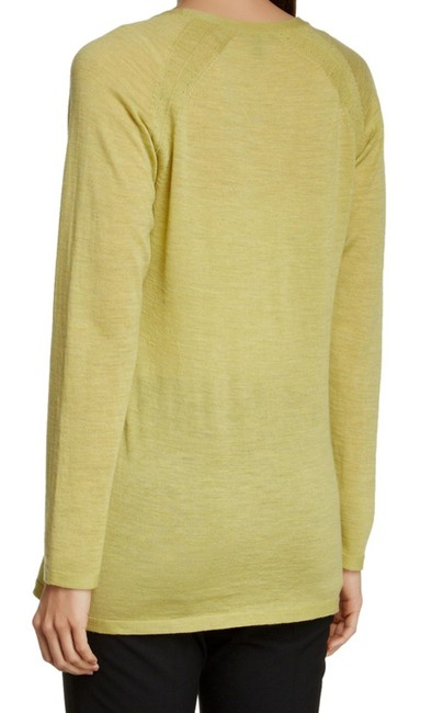 Eileen Fisher Long Sleeve Super Soft Merino Crew Neck Pointelle Knit Hand Washable Sweater Image 2