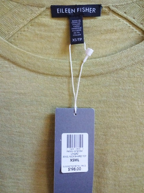 Eileen Fisher Long Sleeve Super Soft Merino Crew Neck Pointelle Knit Hand Washable Sweater Image 4