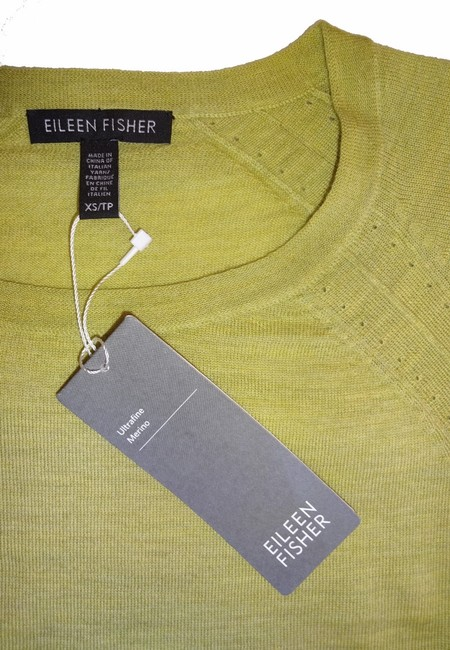 Eileen Fisher Long Sleeve Super Soft Merino Crew Neck Pointelle Knit Hand Washable Sweater Image 5