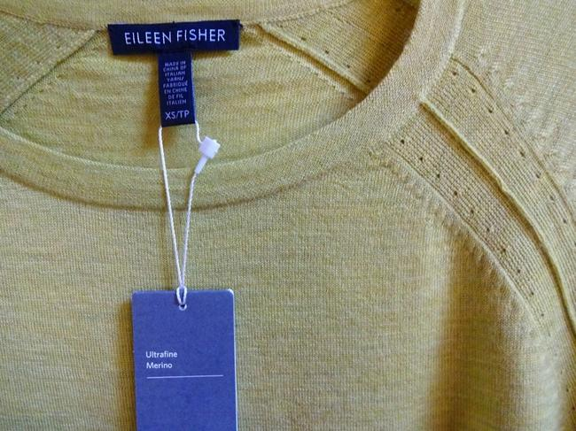 Eileen Fisher Long Sleeve Super Soft Merino Crew Neck Pointelle Knit Hand Washable Sweater Image 7