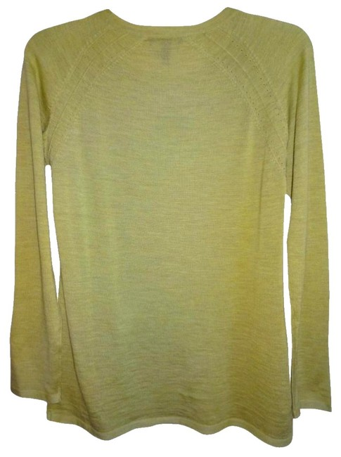 Eileen Fisher Long Sleeve Super Soft Merino Crew Neck Pointelle Knit Hand Washable Sweater Image 8