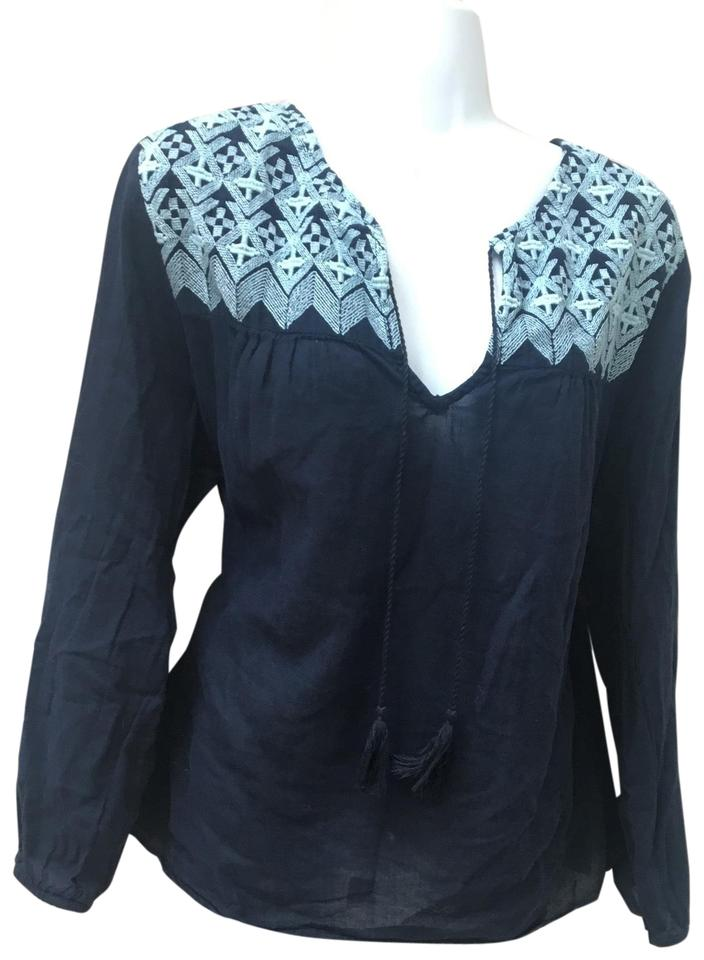 1067ecf245 Old Navy Embroidered Boho Tassels Large Blouse Size 12 (L) - Tradesy