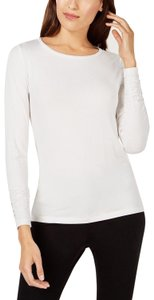 Alfani Stretch Sweatshirt Top White