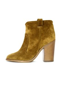 Laurence Dacade Suede Heeled Ankle Tan Boots