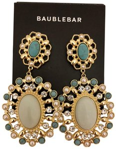 BaubleBar NEW BaubleBar Gold-Tone Turquoise Drop Earrings