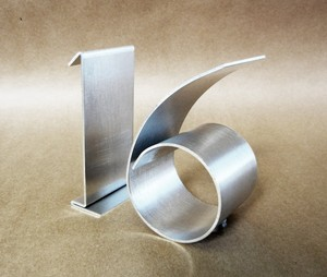 Silver Freestanding Brushed Metal Table Numbers 1-20 Reception Decoration