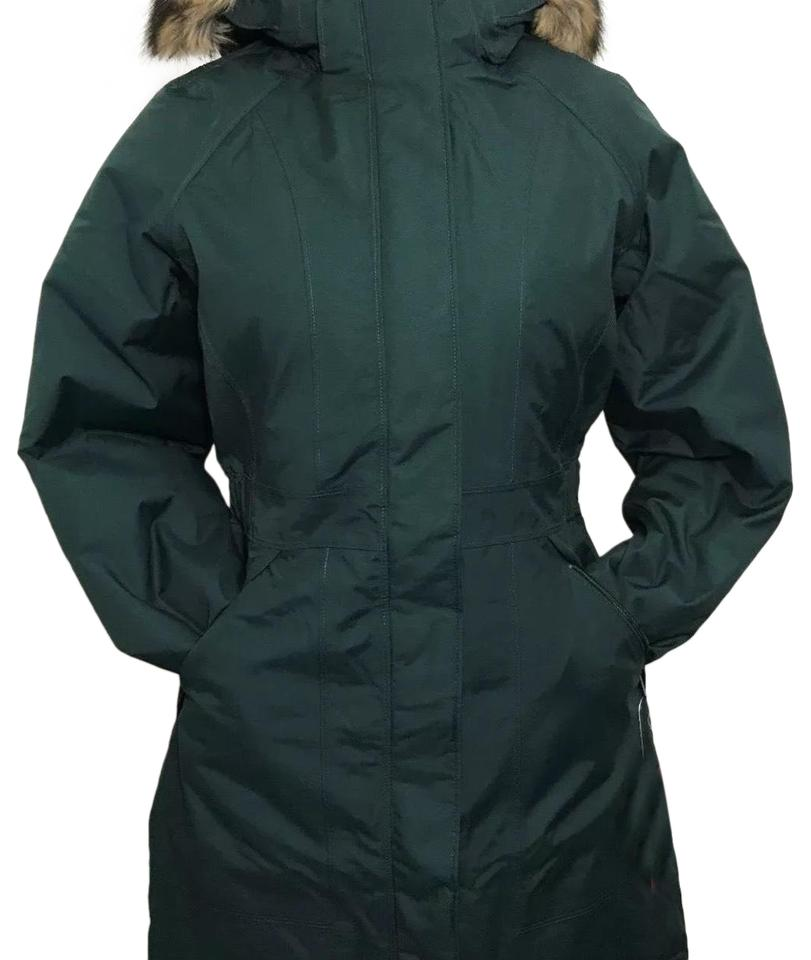 1672810e8 The North Face Scarab Green Women Arctic Parka Dark Coat Size 4 (S)