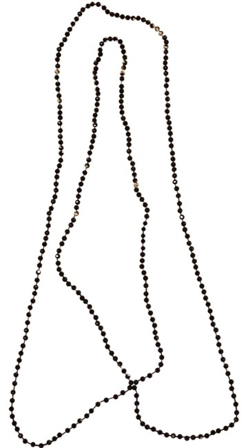 Item - Black Beads Wrappable Beaded Necklace