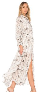 Ivory and Multi Maxi Dress by shona joy Maxi Boho Ruffle Zimmermann
