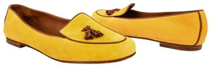 Loro Piana Suede Loafer Leather Yellow Flats