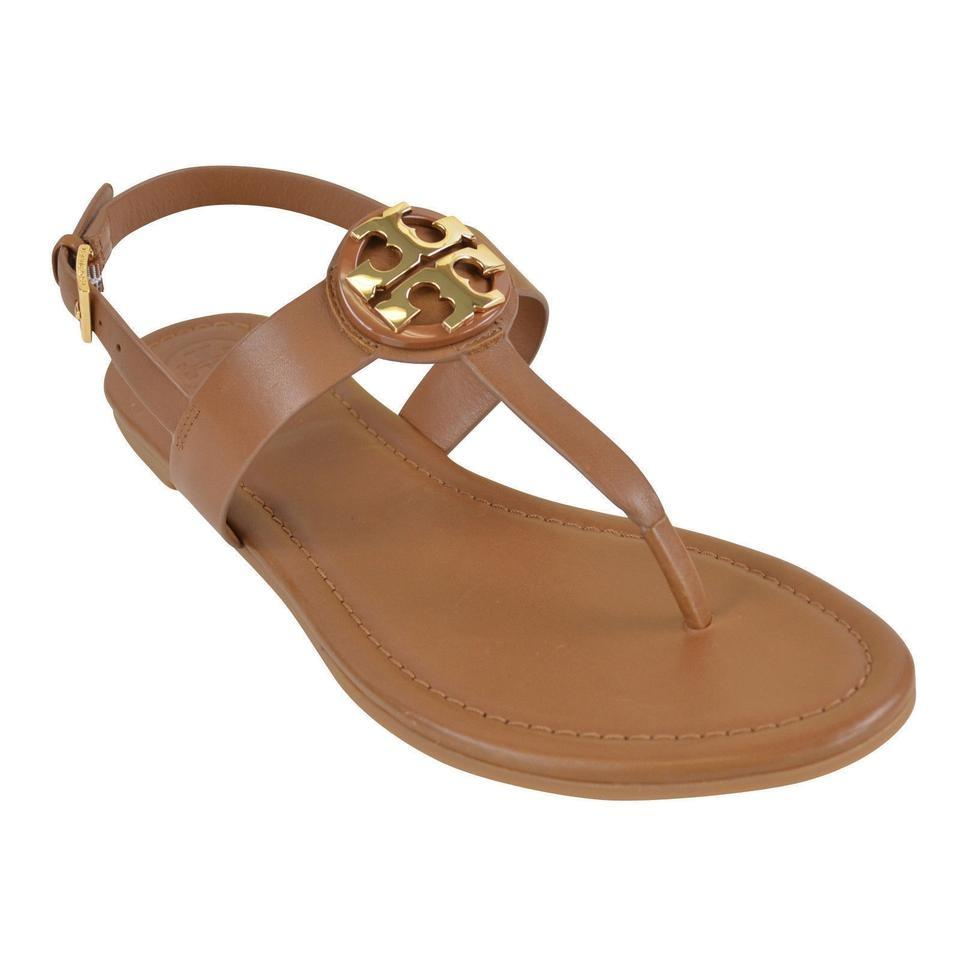 f787ac372492 Tory Burch Royal Tan Bryce Flat Sandals Size US 7.5 Regular (M