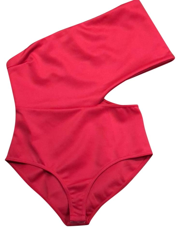 8be77258056b0 Pink Jess One Shoulder One-piece Bathing Suit Size 12 (L) - Tradesy