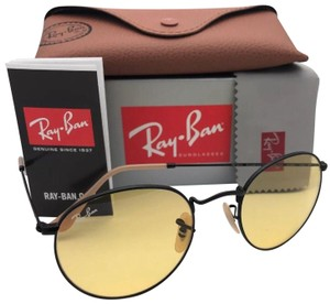 b726b58163 Ray-Ban Photochromic RAY-BAN Sunglasses ROUND METAL 3447 9066 4A Matte Black