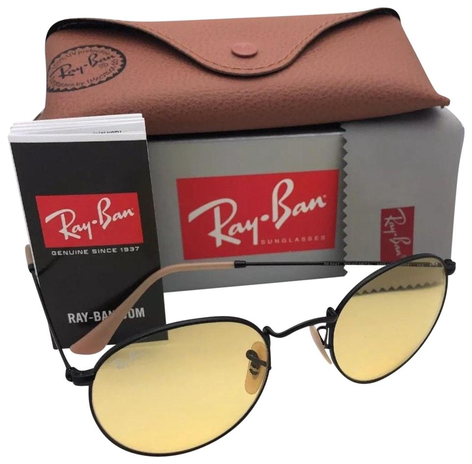 7733df04dc Ray-Ban Photochromic RAY-BAN Sunglasses ROUND METAL 3447 9066 4A Matte  Black ...