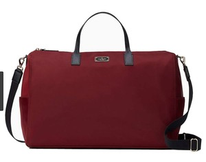 Kate Spade Nylon New With Extra Large red Travel Bag
