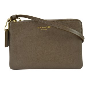 Coach Accessories Saffiano Leather Wristlet in Silt