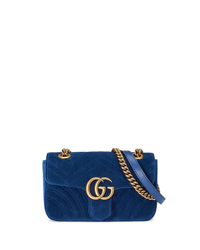 d2386d09632 Gucci Marmont Mini Cobalt Blue Velvet Shoulder Bag - Tradesy
