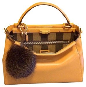6061f1575ba1 Fendi Peekaboo Regular with Penguin Interior Butterscotch Calfskin ...
