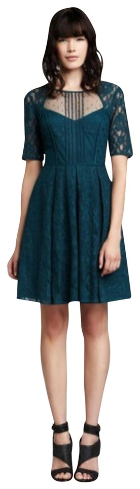 63f502f234c BCBGMAXAZRIA Teal Julya Short Cocktail Dress Size Petite 4 (S) - Tradesy