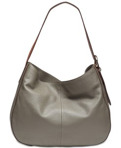 Dkny Bessie Grey Leather Hobo Bag