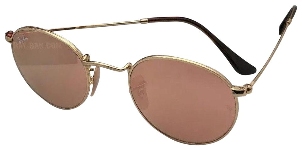 b04cf6c9a31d94 Ray-Ban Round Metal Rb 3447-n 001 Z2 47-21 Gold W Copper Flash ...