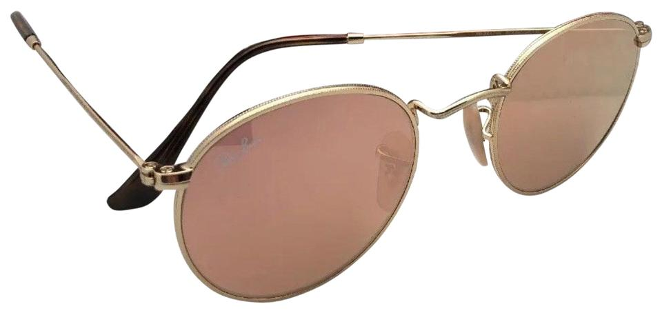 Ray Ban Round Metal Rb 3447 N 001 Z2 50 21 Gold W Copper Flash Mirror 001 Z2 W Sunglasses
