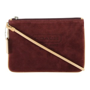 Coach Suede Accessories Wristlet in Wine