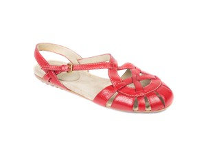 The Original Car Shoe Red Sandals