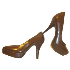 Unlisted by Kenneth Cole Nwb Patent Leather High Heel Brown Pumps