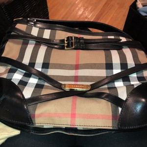 Burberry Satchel in black check