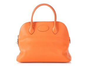 805f1436c241 Hermès Hr.p1010.16 Clemence Gold Hardware Bolide Reduced Price Satchel in  Orange