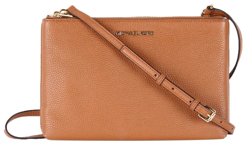 db4d3606e259 Michael Kors Jet Set Double Gusset New With Tag Cross Body Bag Image 7.  12345678