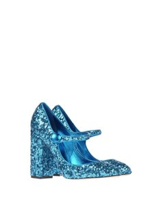Dolce&Gabbana Glitter Sequin Ice Party Runway blue Pumps