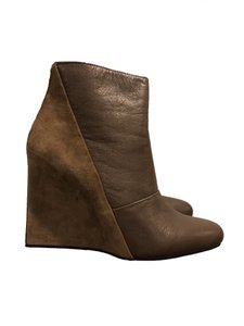 See by Chloé Leather Suede Wedge Brown Boots