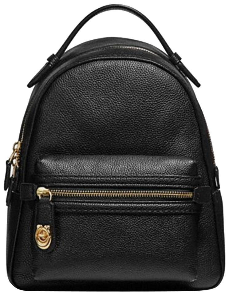 be0e9975c322 Coach Campus 23 Black Leather Backpack - Tradesy
