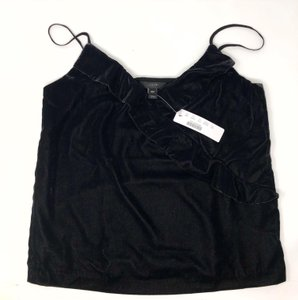 J.Crew Velvet Night Out Holiday Top black