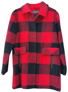 Pendleton Vintage Wool Plaid Pea Coat