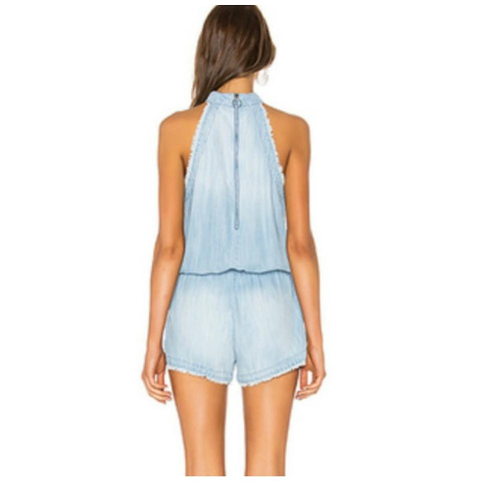 e69bf16b99d Anthropologie Blue Anthro Cloth Stone Chambray Medium Romper ...