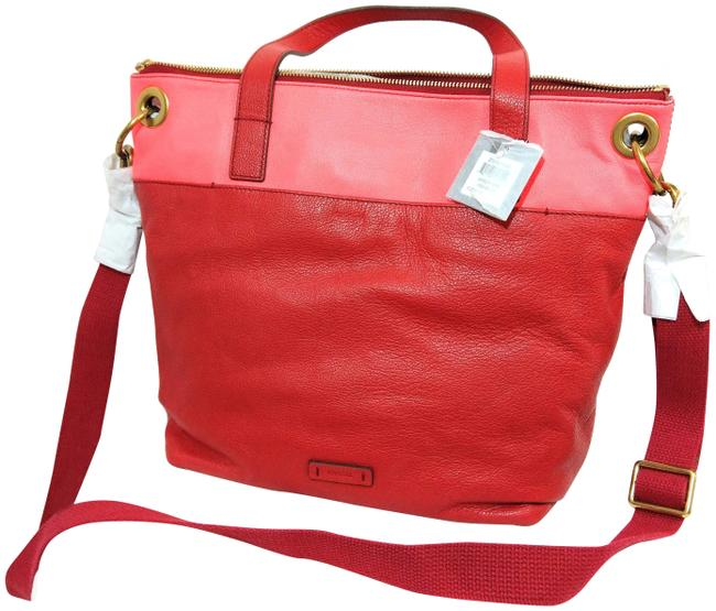 Item - Keely Convertible Red Pink Leather Tote