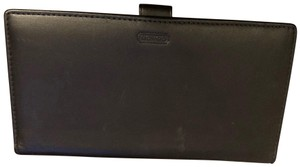 Coach Coach Leather Checkbook Wallet