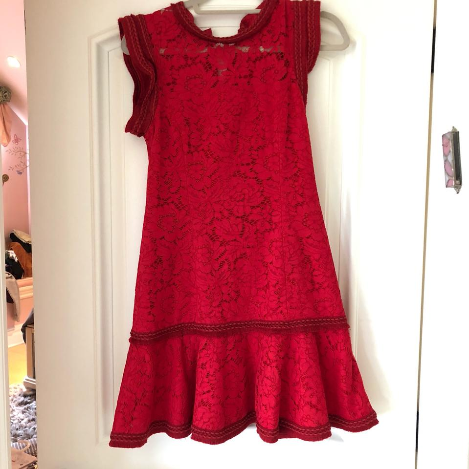 1c4040faeee Alexis Red Lace Mini Short Cocktail Dress Size 8 (M) - Tradesy