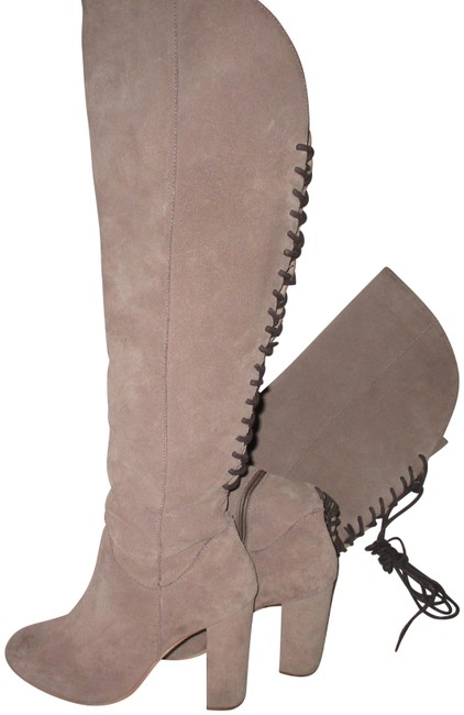 Item - Taupe By Revolvee Over The Knee Leather Boots/Booties Size US 8 Regular (M, B)