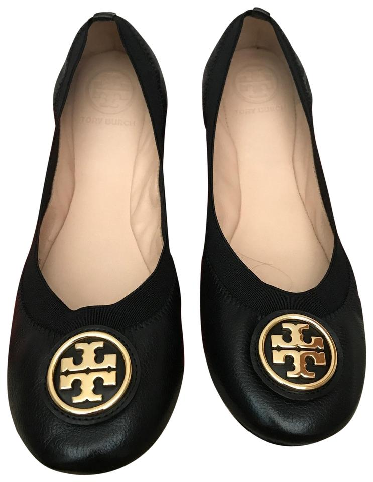 250c2efdb Tory Burch Black   Caroline 2  Ballet - Leather   Elastic Flats Size ...