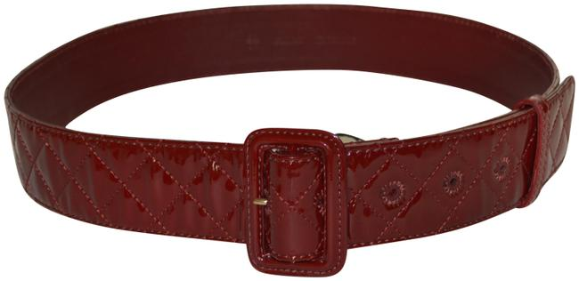 Item - Burgundy New Patent Leather 38 / 95 Made In Italy Belt