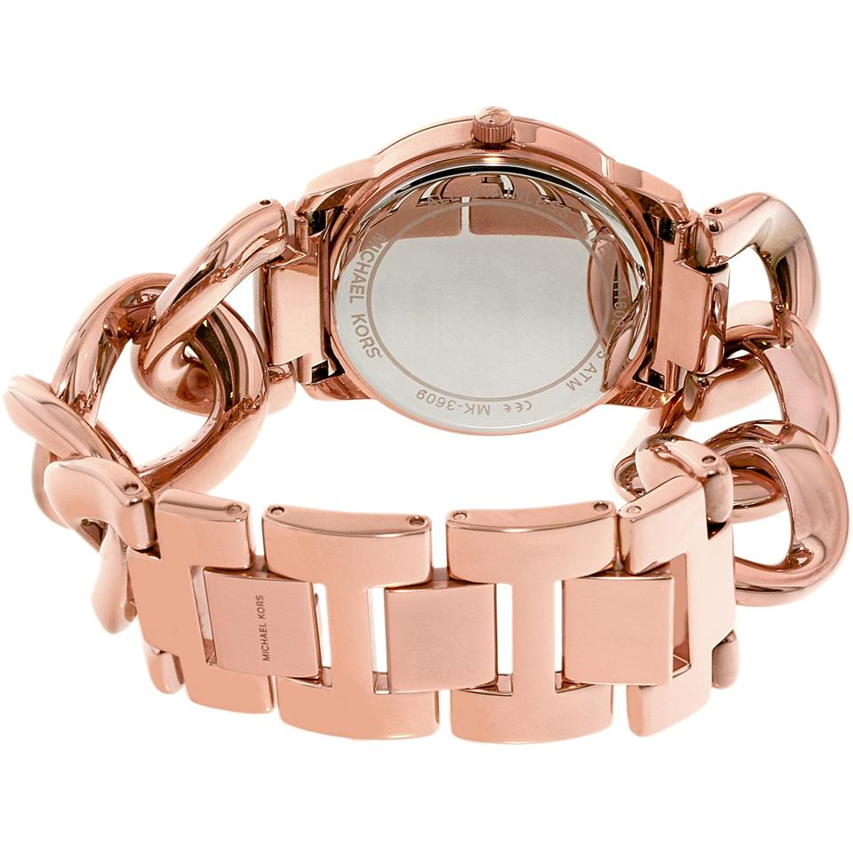 deb293399084b Michael Kors Rose Gold Women's Elena Gold-tone Stainless Steel Mk3609 Watch