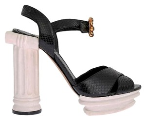 Dolce&Gabbana Snakeskin Leather Black &White Platforms