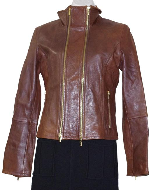 Item - Brown Goat Zipper Cropped Women's Bomber Jacket Size 4 (S)